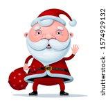 vector cartoon santa claus...   Shutterstock .eps vector #1574929132