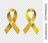 yellow bow emblem. protest... | Shutterstock .eps vector #1574940652