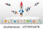 rocket  5 model   for success... | Shutterstock .eps vector #1574951878