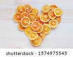 A Sliced Dried Oranges Compose...