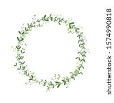 spring wreath with branches ... | Shutterstock .eps vector #1574990818