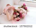 children pink pointe with... | Shutterstock . vector #157502312