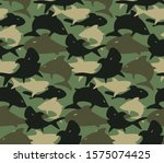 seamless camouflage army... | Shutterstock .eps vector #1575074425