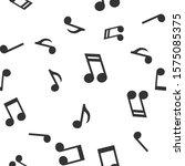 musical notes seamless pattern. ... | Shutterstock .eps vector #1575085375