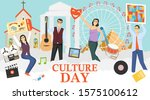 culture day. a group of mini... | Shutterstock .eps vector #1575100612