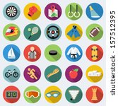 set of sport icons in flat... | Shutterstock .eps vector #157512395