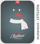 retro vintage minimal merry... | Shutterstock .eps vector #157513556
