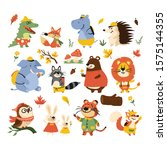 autumn icons stylized animals...   Shutterstock .eps vector #1575144355