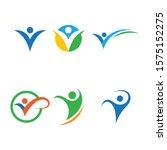 healthy life logo template... | Shutterstock .eps vector #1575152275
