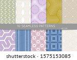 simple geometric texture.... | Shutterstock .eps vector #1575153085