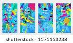 abstract social media template...   Shutterstock .eps vector #1575153238
