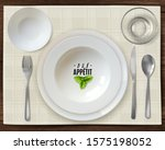 top view table setting. the... | Shutterstock .eps vector #1575198052