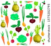 set of vegetables  beets ... | Shutterstock . vector #1575202795