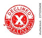 vector  scratch circle red... | Shutterstock .eps vector #1575203608