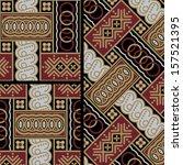 javanese batik seamless pattern ... | Shutterstock .eps vector #157521395