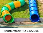 slider tube in the playground | Shutterstock . vector #157527056