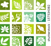 floral icons | Shutterstock .eps vector #157534382