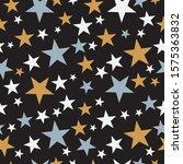 seamless christmas star...   Shutterstock .eps vector #1575363832