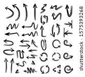 arrow doodles collection. hand...   Shutterstock .eps vector #1575393268