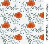semless vector flower design... | Shutterstock .eps vector #1575403528