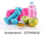 dieting food and fitness... | Shutterstock . vector #157540616