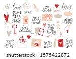 hand drawn vector st. valentine'... | Shutterstock .eps vector #1575422872