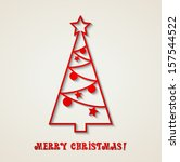 christmas card | Shutterstock .eps vector #157544522