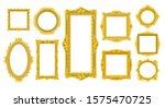 victorian old wood frames.... | Shutterstock .eps vector #1575470725