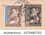 Deutsches reich   circa 1942  a ...