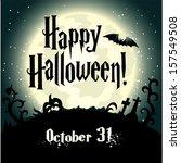 halloween background with full... | Shutterstock .eps vector #157549508