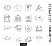 law and justice line set icon... | Shutterstock .eps vector #1575495538