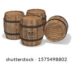 wooden gunpowder barrels 3d... | Shutterstock . vector #1575498802