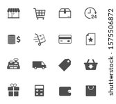 shopping vector icons isolated...