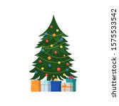 christmas tree and gifts....   Shutterstock .eps vector #1575533542