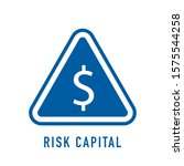 risk capital outline icon. thin ... | Shutterstock .eps vector #1575544258