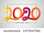 happy 2020 new year colorful... | Shutterstock .eps vector #1575547582