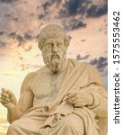 plato the ancient greek... | Shutterstock . vector #1575553462