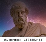 plato the ancient greek... | Shutterstock . vector #1575553465