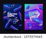 """electro sounds"" club... | Shutterstock .eps vector #1575574465"