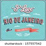 Vintage Greeting Card From Rio...