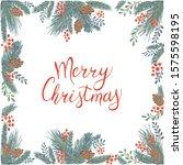 vector illustration of winter... | Shutterstock .eps vector #1575598195