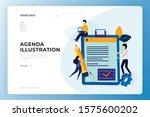 agenda landing page design....
