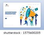 advertising promotion landing...   Shutterstock .eps vector #1575600205