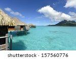 bora bora. view over beautiful...   Shutterstock . vector #157560776