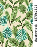 background,beach,beautiful,blue,decoration,exotic,fern,foliage,green,illustration,jungle,leaf,nature,palm,pattern