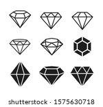 a set of diamonds in a flat...   Shutterstock .eps vector #1575630718