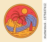 simple beach badge logo design... | Shutterstock .eps vector #1575637612