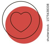 like heart with red shadow icon....