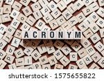 acronym word concept on cubes