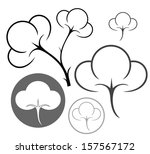 cotton. icon set. isolated... | Shutterstock .eps vector #157567172